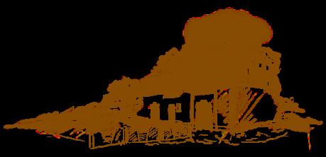 Odręczny rysunek budynku Spichlerza